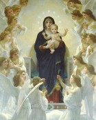 Virgin Mary with Baby Jesus and Angels