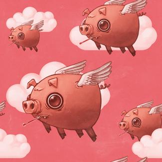 Free Flying pig tile.jpg phone wallpaper by jenajunz7