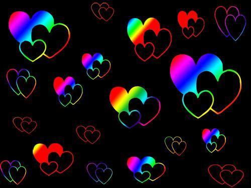 Free rainbow heartz.jpg phone wallpaper by shawtylow