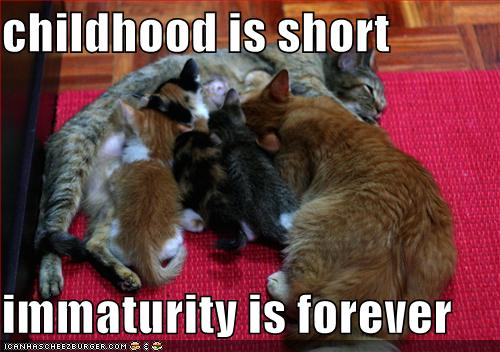 Free funny-pictures-childhood-is-short-immaturity-is-forever.jpg phone wallpaper by sexy_boy