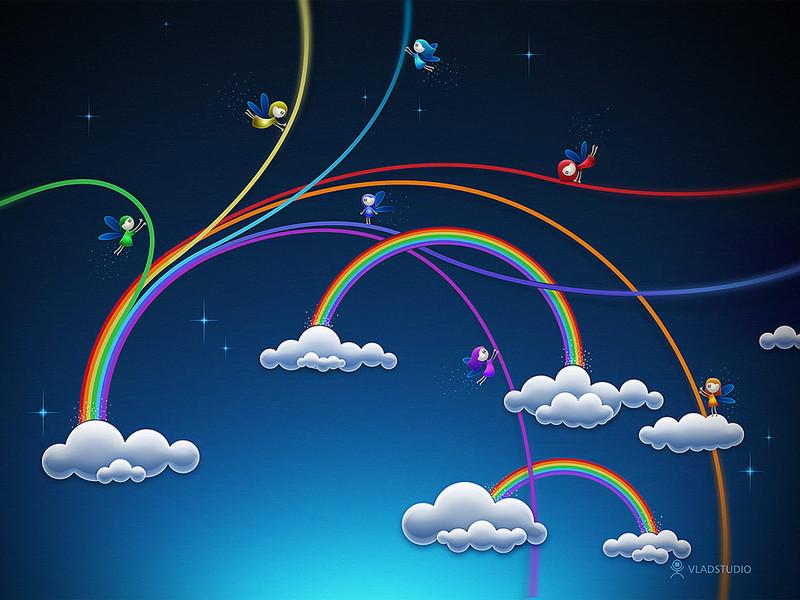 Free rainbow fairies.jpg phone wallpaper by brandiwig84