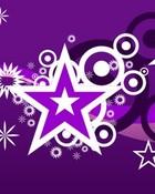 purple *'s