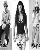 Nicki Minaj; Drake; Wayne wallpaper 1