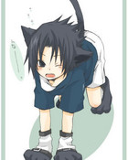 cute kitty sasuke