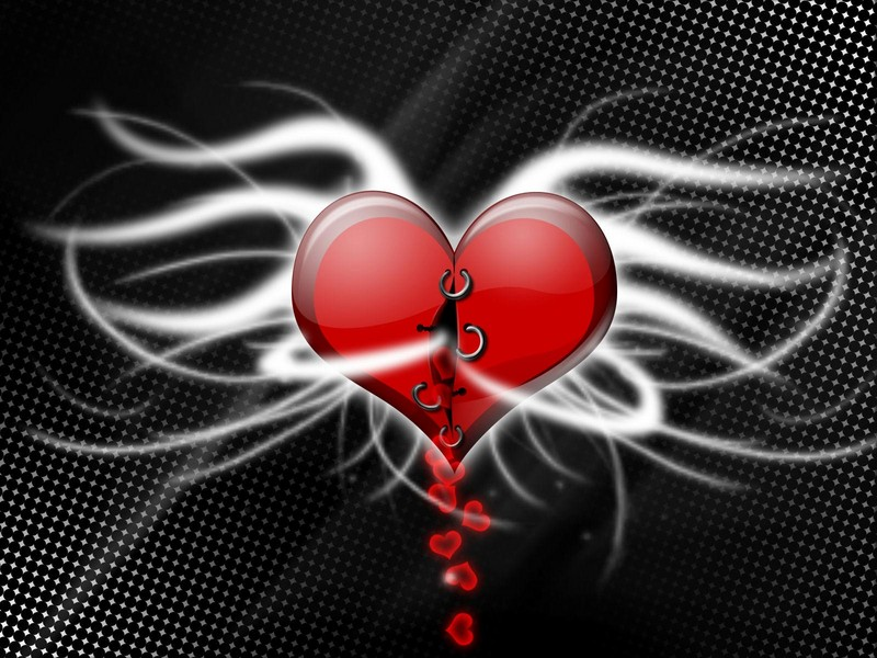 Free falling hearts phone wallpaper by brandiwig84