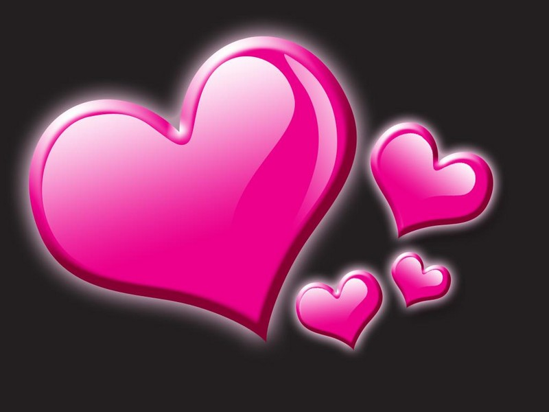 Free pink hearts phone wallpaper by brandiwig84