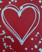 heart paint splatter