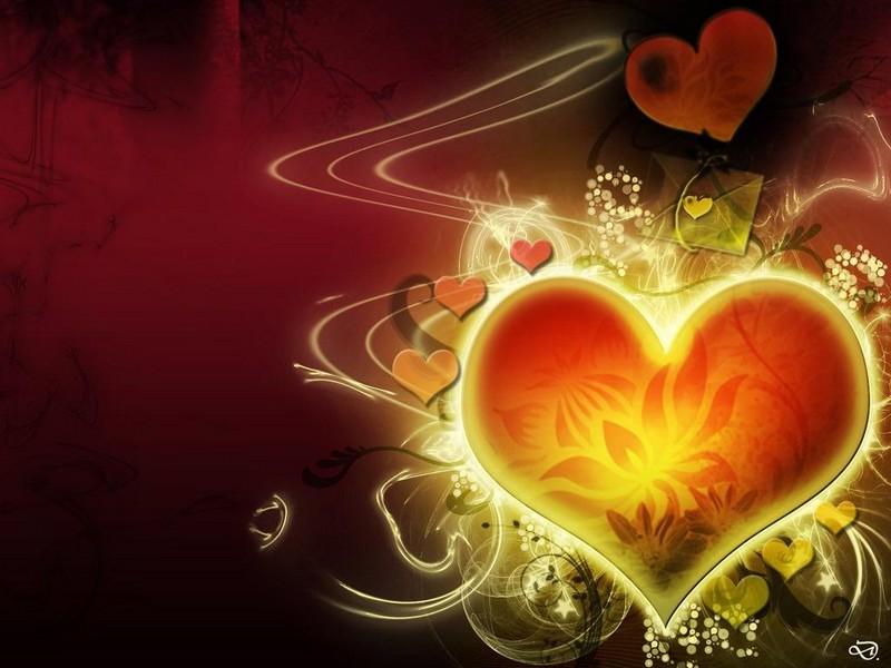 Free Glowing heart phone wallpaper by brandiwig84