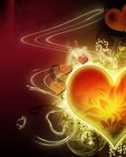 Glowing heart wallpaper 1