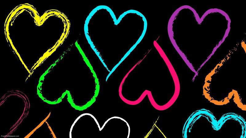 Free Rainbow-Hearts phone wallpaper by brandiwig84