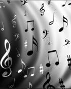 Music note waves  wallpaper 1