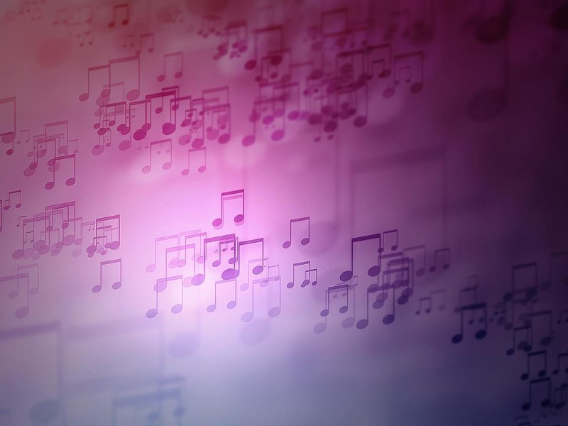Free floating music notes phone wallpaper by brandiwig84