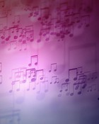 floating music notes wallpaper 1