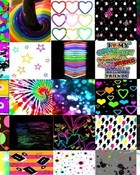 Colorful Collage wallpaper 1