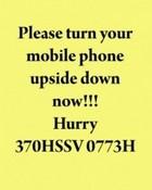 Turn Upside Down Message