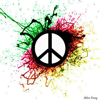 Free peace-green-red-pattern.jpg phone wallpaper by monkeyroo