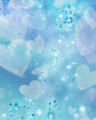 hearts on blue