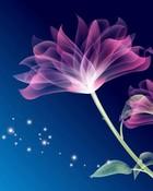 Pink Neon Flower