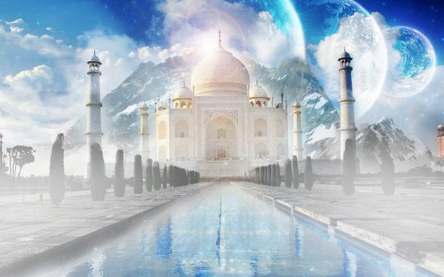 Free galactic-taj-mahal.jpg phone wallpaper by shawtylow