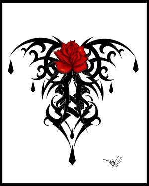 Free goth rose phone wallpaper by lunarspirit13