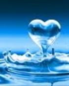 blue water heart