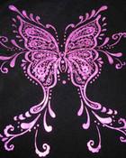 pink n black butterfly
