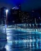 City Lights with Rain wallpaper 1