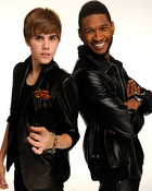 justin and usher at amas