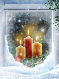 Free Christmas Candles phone wallpaper by rex_66