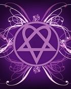 Purple heartagram