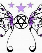 Heartagram butterfly