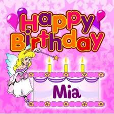 Free Happy Birthday Mia phone wallpaper by brimia23