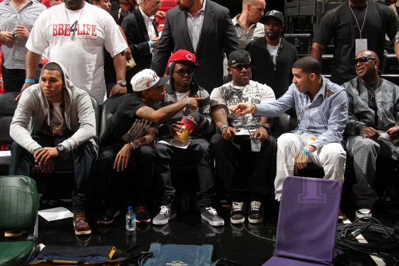 Free Chris-Brown-Bow-Wow-Lil-Wayne-Mack-Maine-Drake-and-Birdman-580x386.jpg phone wallpaper by alexagarcia
