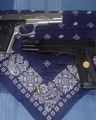 Gunz Blue Bandana
