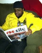 I was readin a paper!!