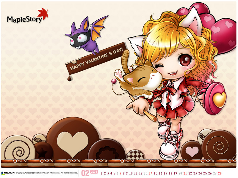 Free Maplestory Valentine phone wallpaper by solevocaloidfanatic