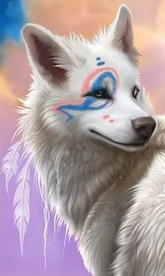 Free Indian-Arctic-Wolf-wolves-11985465-399-420.jpg phone wallpaper by maybabii89