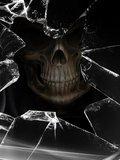 Free rsz_1skull-broken-glass.jpg phone wallpaper by djeric123