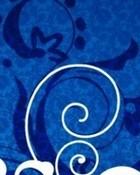 Blue & White Swirls