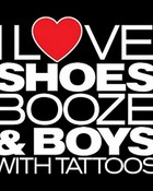 i luv shoes booze n boys with tattoos (black)