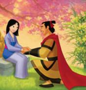 Free Mulan & Shang phone wallpaper by justindarling