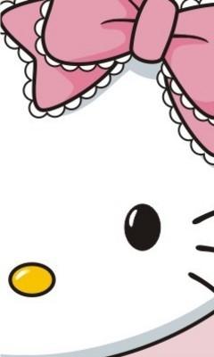 Free Hello Kitty Face Wallpaper.jpg phone wallpaper by x_rawrz