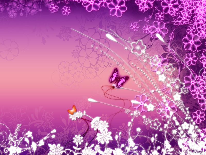 Free pink-butterfly-garden.jpg phone wallpaper by twifranny