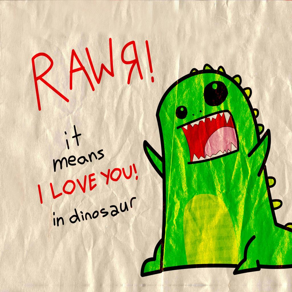 Free dinosaur-love-.jpg phone wallpaper by moccacake28