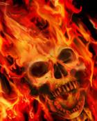 Flaming skull head-jpg