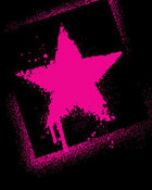 BleedingStarsPinkBlack