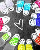 Colorful Converse Chalk