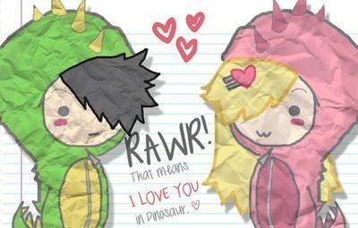 Free Rawr In Love phone wallpaper by mtpdotcom