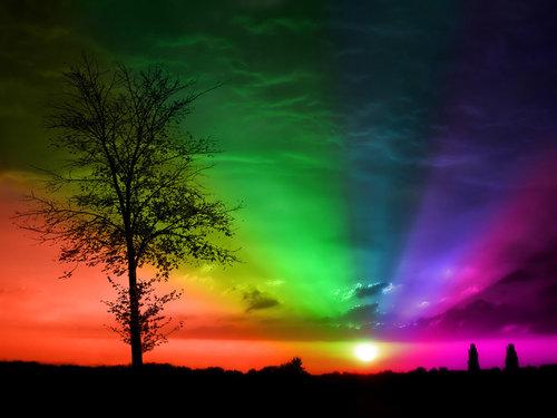 Free Sunset Rainbow phone wallpaper by mtpdotcom