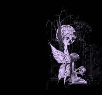 Free Skull and Fairy.jpg phone wallpaper by melissa